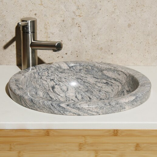 Meridian Stone Circular Drop-In Bathroom Sink by Allstone Group