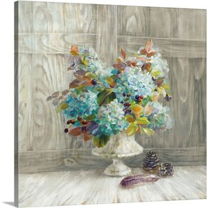 Rustic Florals by Danhui Nai Graphic Art on Wrapped Canvas by Great Big Canvas