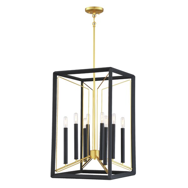 Sable 8 - Light Lantern Square Chandelier By Metropolitan By Minka