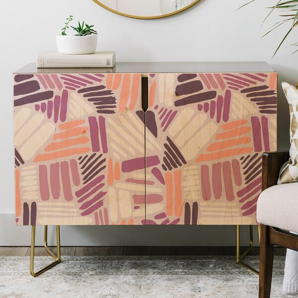 Mareike Boehmer Dots and Lines Rose Credenza by East Urban Home East Urban Home