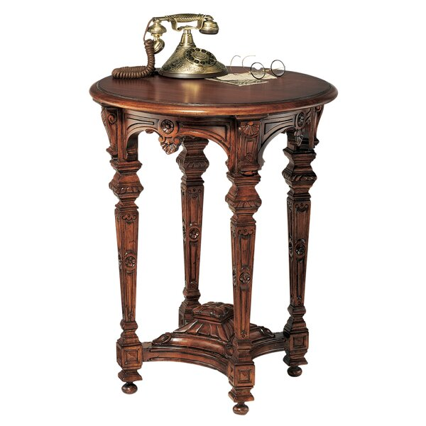 Louis XIV Mahogany End Table by Design Toscano