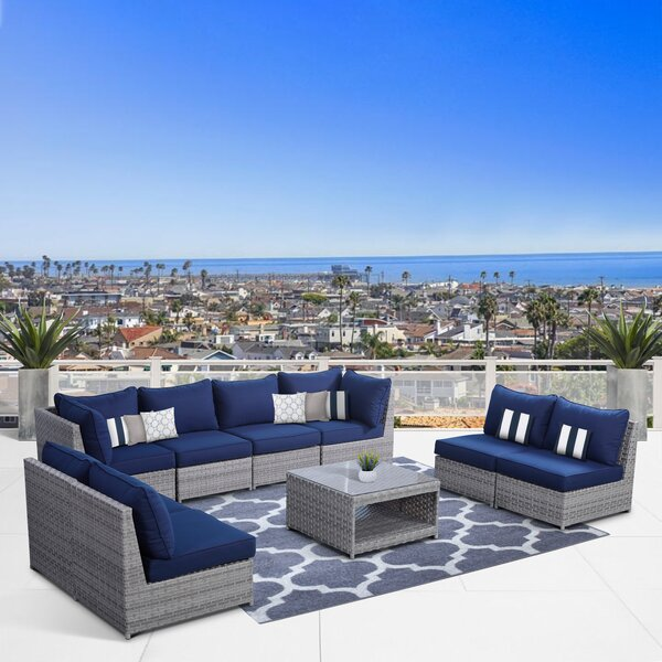 Jerimiah 9 Piece Sofa Seating Group with Cushions by Highland Dunes
