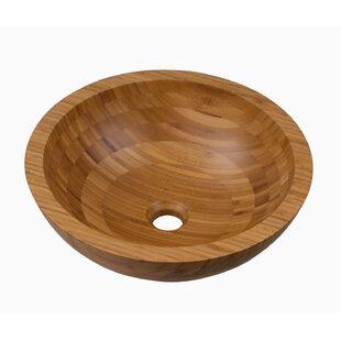 Comparison Aria Bamboo Wood Circular Vessel Bathroom Sink By Maykke