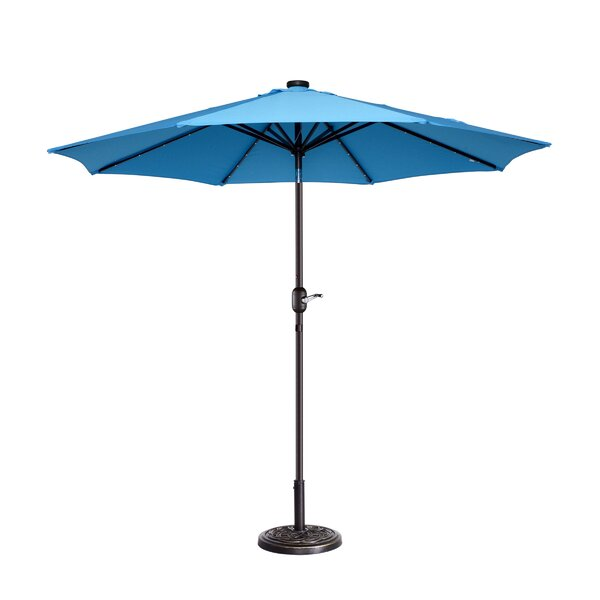 Coggeshall LED Lighted 9' Market Umbrella By Freeport Park by Freeport Park Best Choices