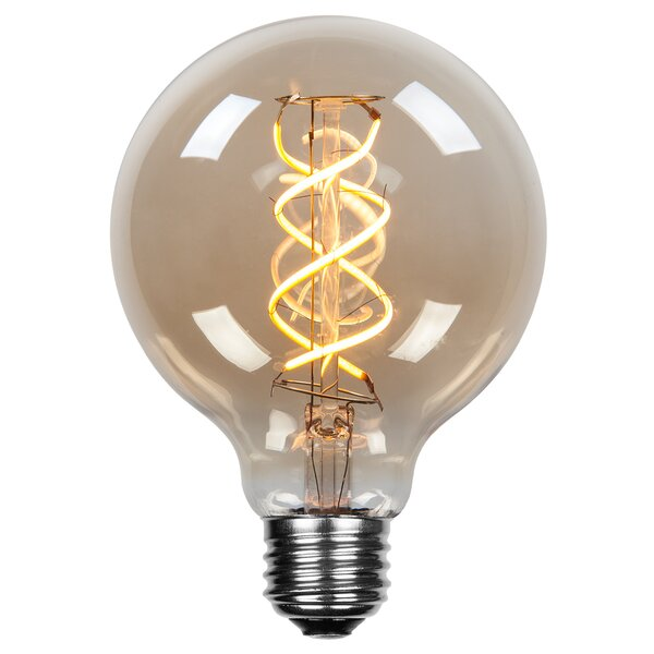 5W E26 Dimmable Edison Globe Light Bulb Amber by Wintergreen Lighting