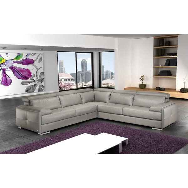 Gary Leather Symmetrical Sectional by J&M Furniture