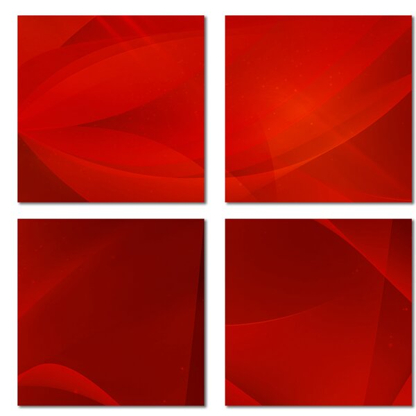 Custom 6 x 6 Beveled Glass Field Tile in Red by Upscale Designs by EMA