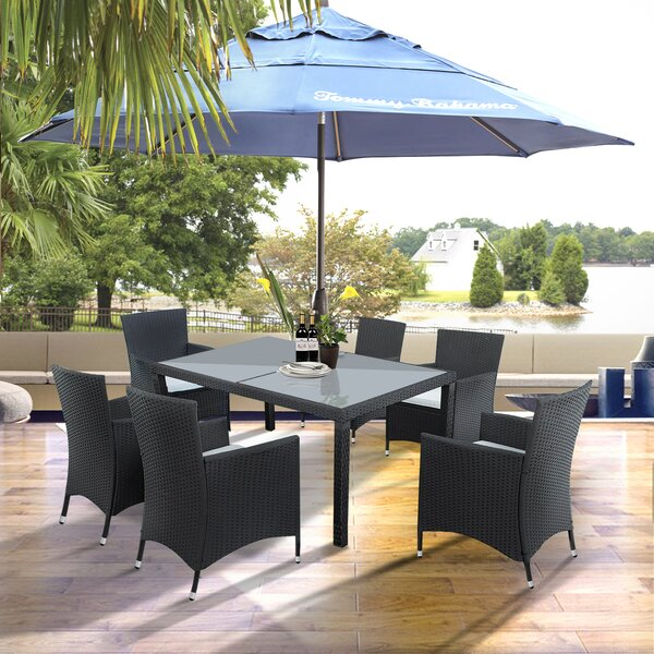 Keagan 7 Pieces Rattan Multiple Chairs Seating Group with Cushions by Bayou Breeze