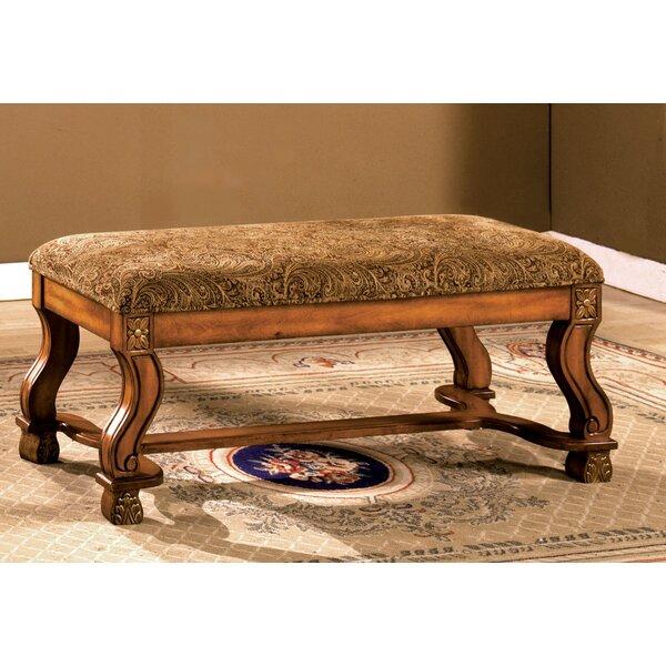 Gleaves Upholstered Bench by Fleur De Lis Living