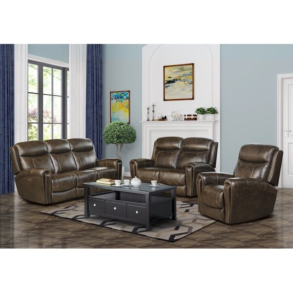 Malibu Leather Reclining Configurable Living Room Set By Barcalounger