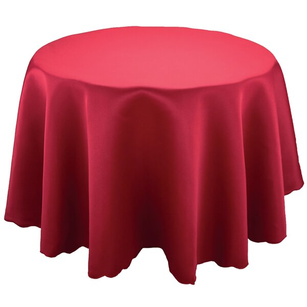 Sadie Red Round Table Cloth by Mint Pantry