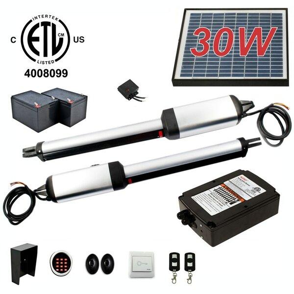 Dual Swing Gate Operator ETL Listed Solar Kit by ALEKO