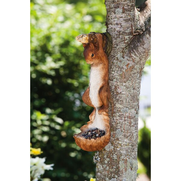 Hanging Squirrel Decorative Tray Feeder by New Creative