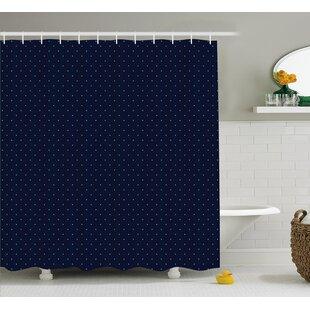 Clearance Zetta Blue Dots Retro Decor Shower Curtain ByLongshore Tides