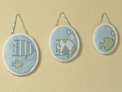 3 Piece Go Fish Hanging Art Set by Sweet Jojo Designs