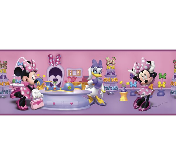 Walt Disney Kids II Minnie Bowtique 9 Border Wallpaper by York Wallcoverings
