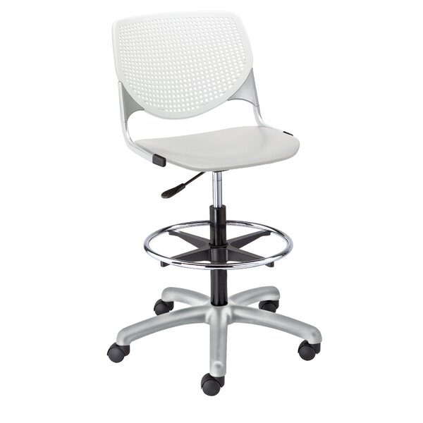 Eiland Poly Adjustable Mid-Back Drafting Chair by Latitude Run