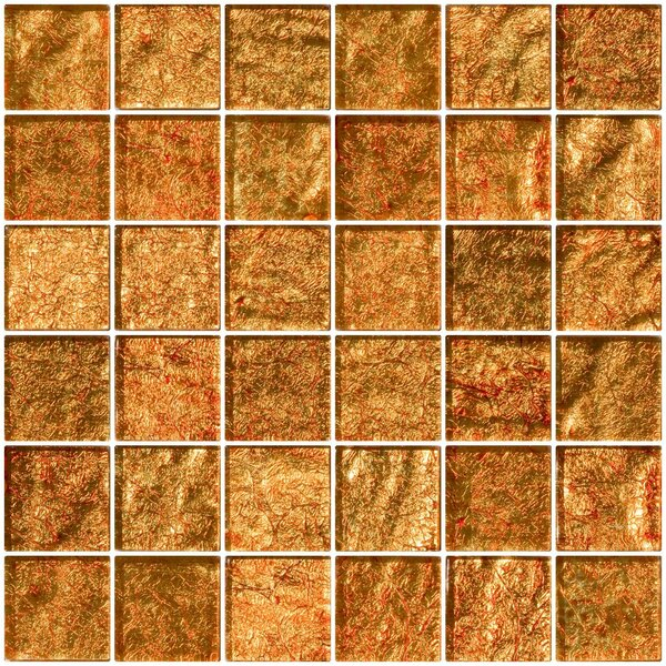 2 x 2 Glass Mosaic Tile in Fire Bronze by Susan Jablon