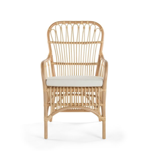 Deloris Rattan Arm Chair (Set of 2) by Bayou Breeze