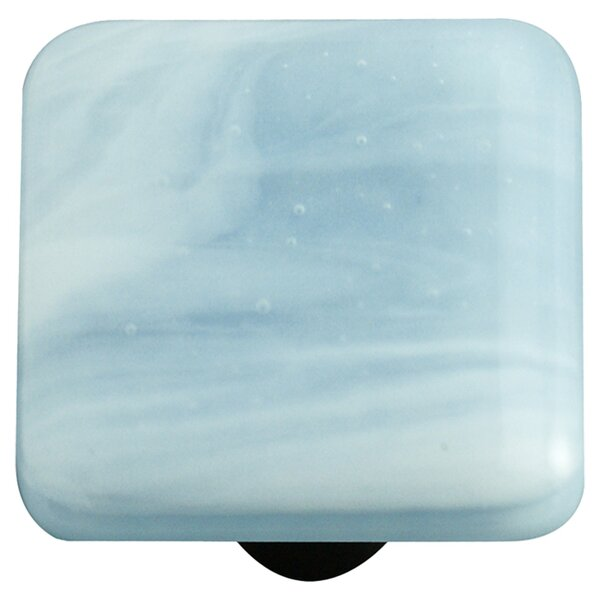 Swirl Square Knob II by Aquila Art Glass