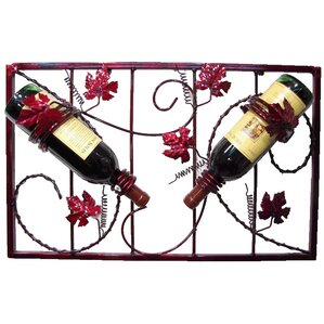 French Vineyard 2 Bottle Wall Mounted Wine Rack by Metrotex Designs