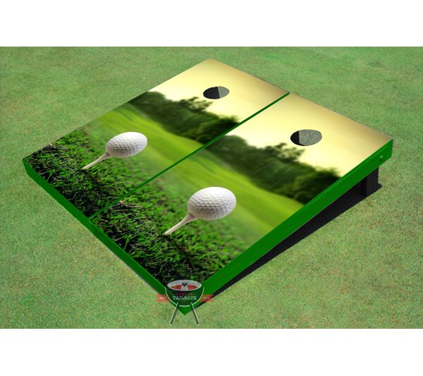 Golf Course Sunset Cornhole Board (Set of 2) by All American Tailgate