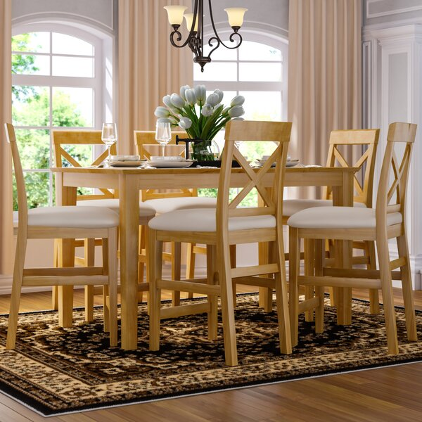 Smyrna 7 Piece Counter Height Pub Table Set by Charlton Home