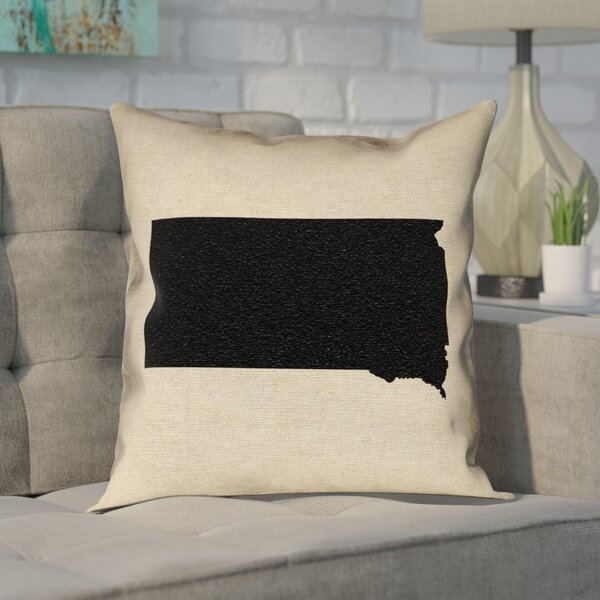Chaput South Dakota Pillow in , Faux Linen Double Sided Print/Throw Pillow