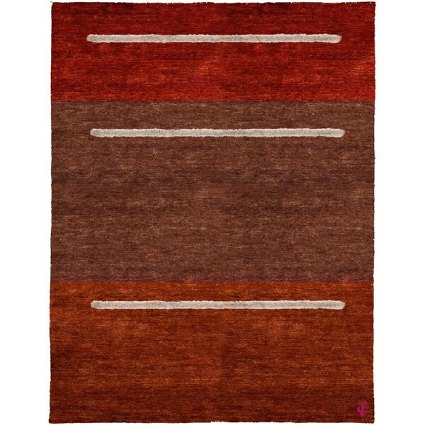 One-of-a-Kind Wilkey Hand-Knotted Traditional Style Red 12' x 18' Wool Area Rug