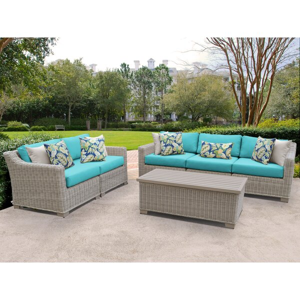Claire 4 Piece Sofa Seating Group with Cushions by Rosecliff Heights Rosecliff Heights