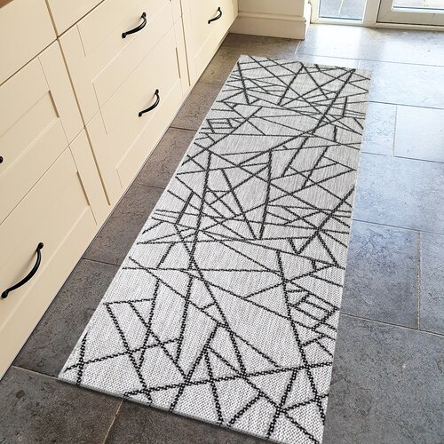 Deidre Grey/Cream Rug Metro Lane Rug Size: Runner 80 x 250cm