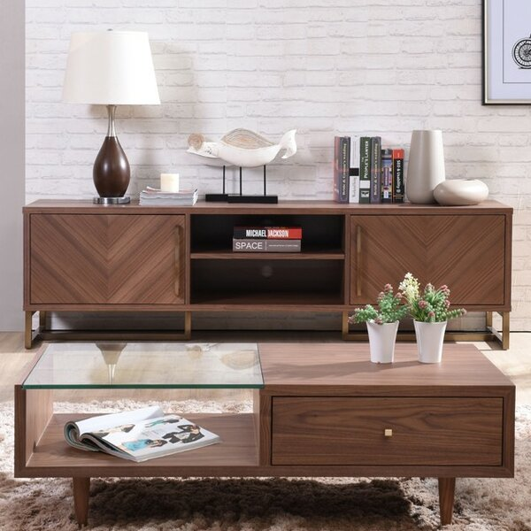 Akan Chevron 76 TV Stand by Corrigan Studio