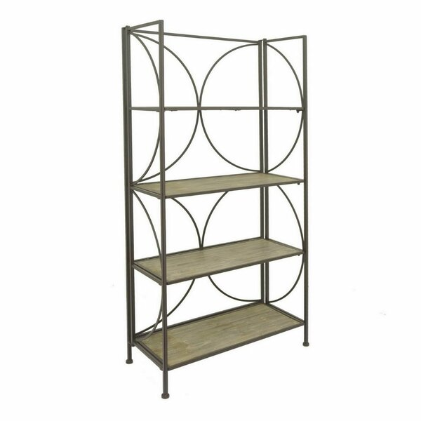 Postel Metal Wood Etagere Bookcase by Latitude Run