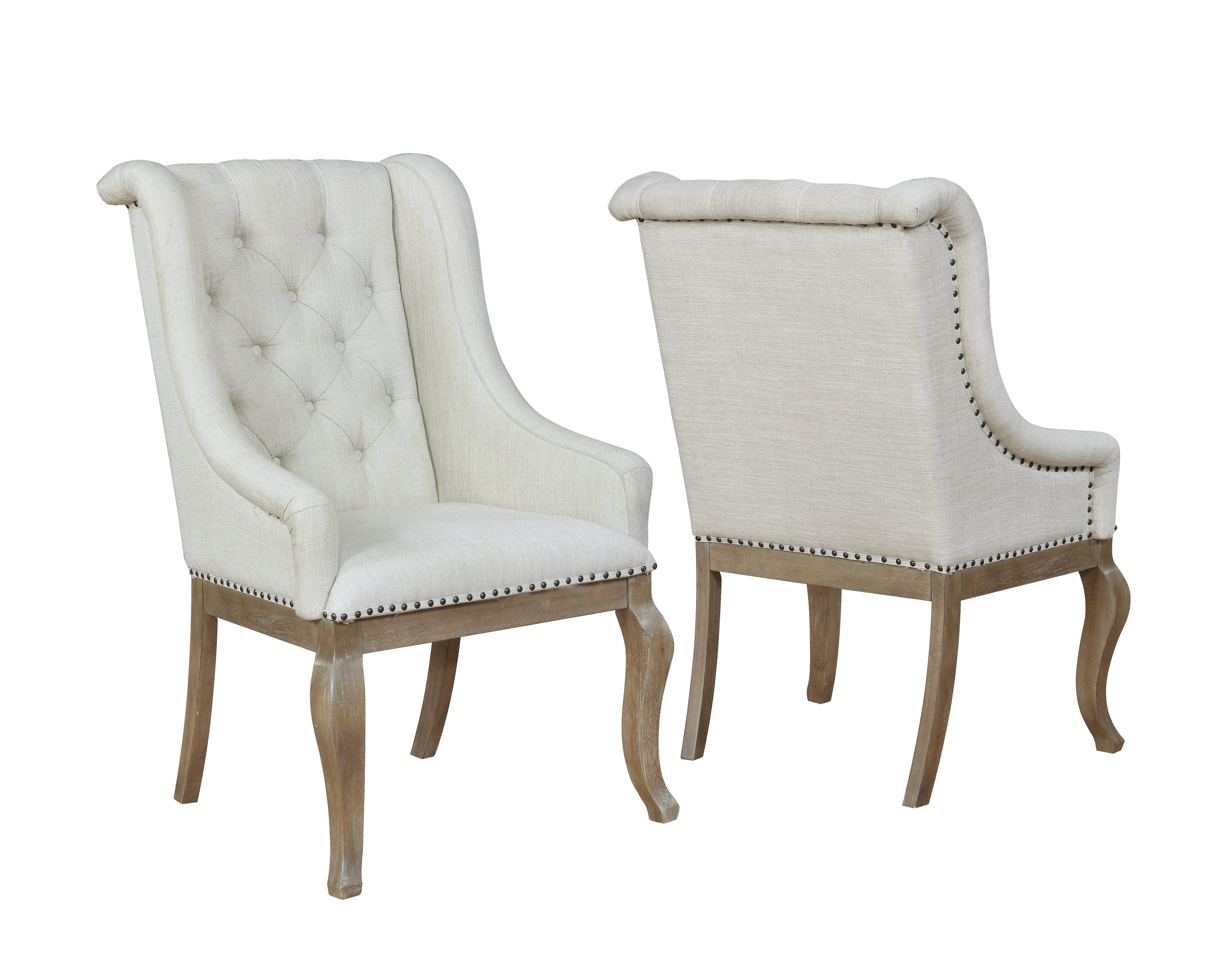 brockway tufted upholstered dining chair in cream