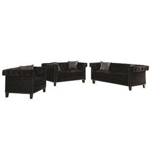 Sorrell 3 Piece Living Room Set by Rosdorf Park