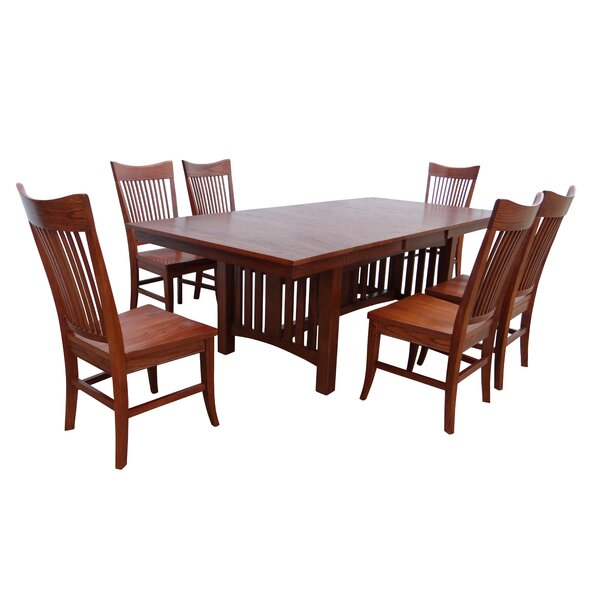 Julie 7 Piece Extendable Solid Wood Dining Set by Loon Peak