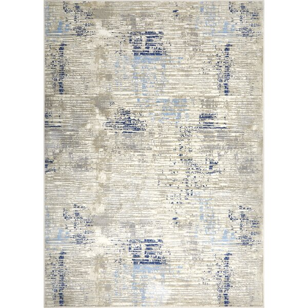 Hamm Gray/Blue Area Rug by Wrought Studio