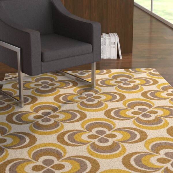 Mraz Gold/Yellow Area Rug by Ebern Designs