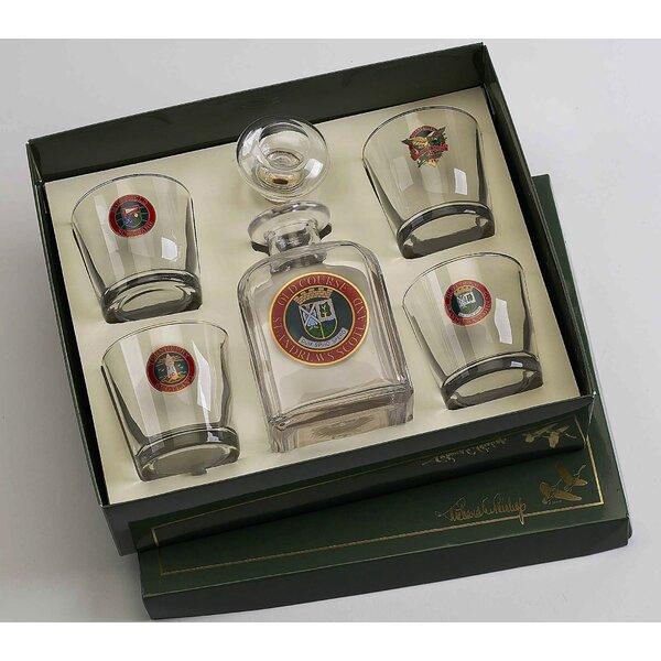 5-Piece Scottish Golf Decanter Set by Richard E. Bishop