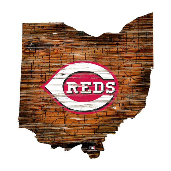 MLB Team 24 State Logo Sign Wall Decor by Fan Creations