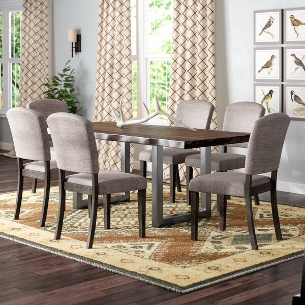 Thomasson 7 Piece Solid Wood Dining Set by Mistana