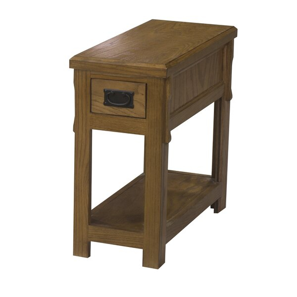 Gus End Table with Storage by Millwood Pines Millwood Pines