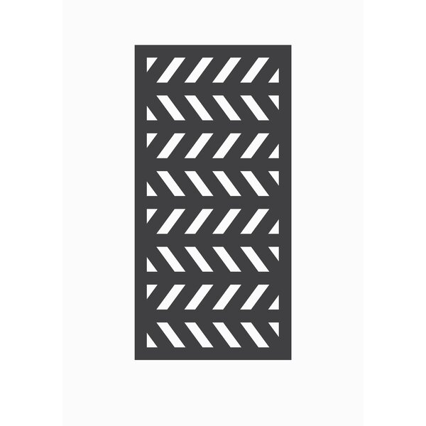 4 ft. H x 2 ft. W Herringbone Fence Panel by OUTDECO