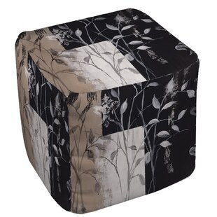 African Leaf Abstract Pouf