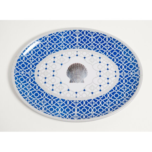 Yacht and Home Moroccan Shell Melamine Oval Platter by Galleyware Company