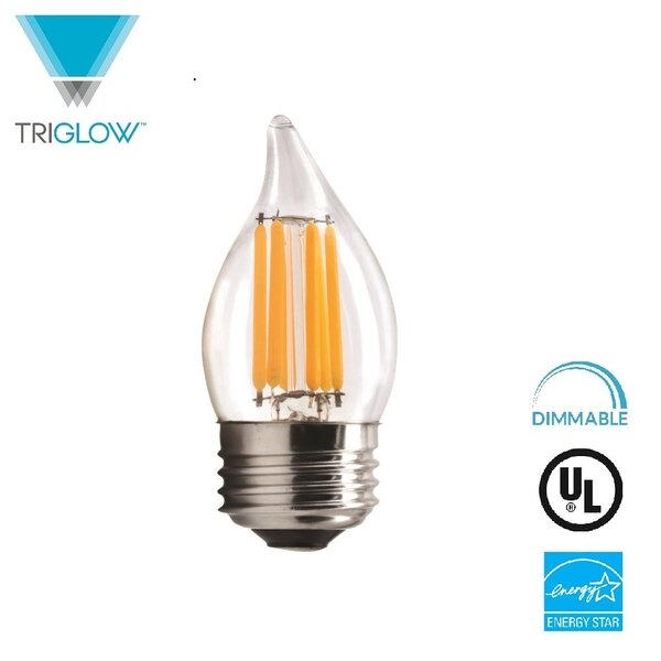 60W Equivalent E26 LED Candle Light Bulb by TriGlow