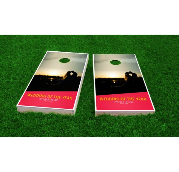 Wedding Sunset Cornhole Game (Set of 2) by Custom Cornhole Boards