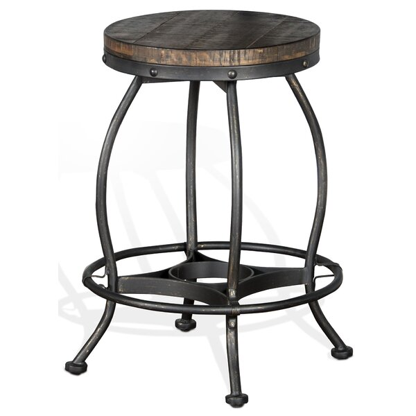 Pollie 24 Swivel Bar Stool by Loon Peak