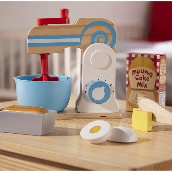 11 Piece Wooden Make a Cake Mixer Appliance Set [Melissa Doug]