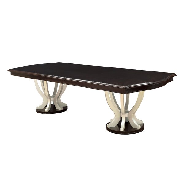 Moreno Contemporary Solid Wood Dining Table by Winston Porter Winston Porter